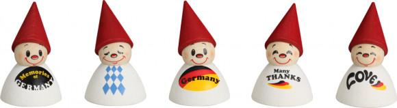 Wippelfiguren Deutsche Fan-Wippel mit Spruch, 5-teilig