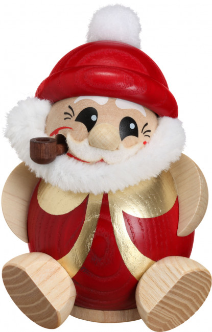 Kugelräucherfigur Nikolaus rot gold