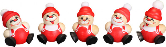 Baumbehang Kugelfiguren Nikolaus, 5-teilig
