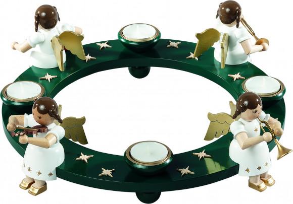 Adventsleuchter Engelquartett für Teelichter