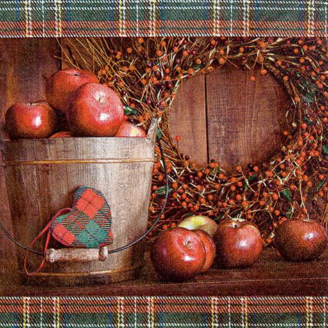 Tischservietten Apfelpflücksaison