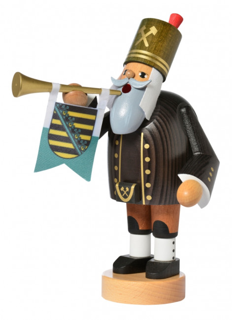 Räuchermännchen Bergmann mit Trompete