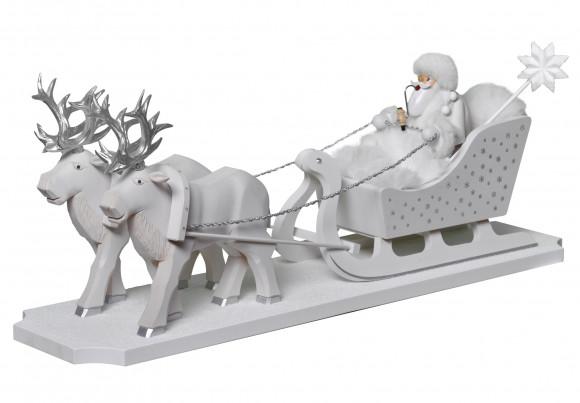 Räuchermännchen Väterchen Frost mit Rentierschlitten