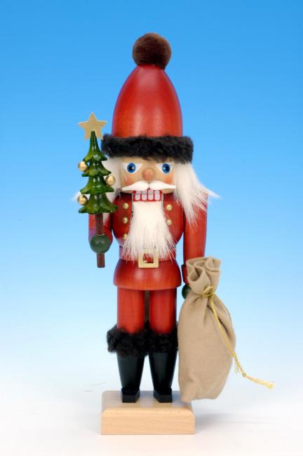 Roter Nussknacker mit Baum & Sack