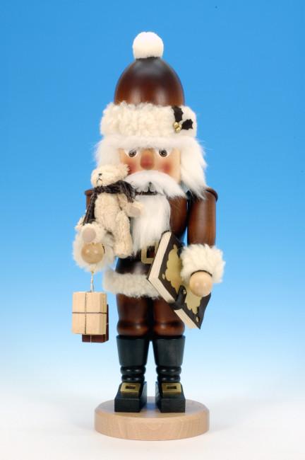 Ulbricht Nussknacker Weihnachtsmann mit Teddy natur