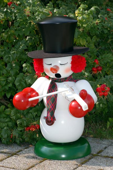 Räuchermännchen Schneemann mit Geige