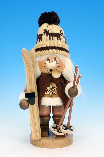 Räuchermännchen Wichtel Skifahrer
