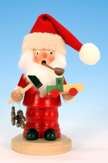 Räuchermännchen Weihnachtsmann mit Lebkuchen