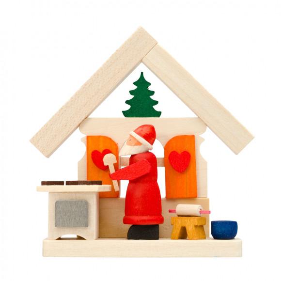 Baumbehang Haus Weihnachtsmann mit Weihnachtsbäckerei