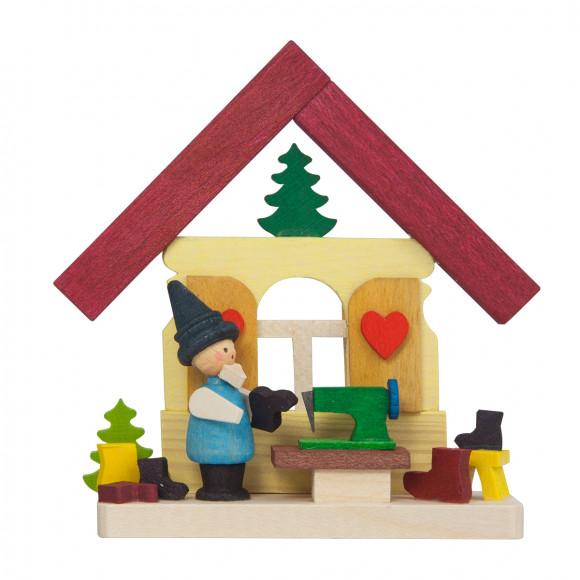 Baumbehang Haus Zwerg mit Nähmaschine