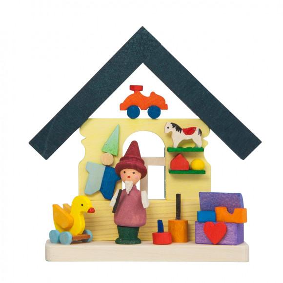 Baumbehang Haus Zwerg mit Spielzeug