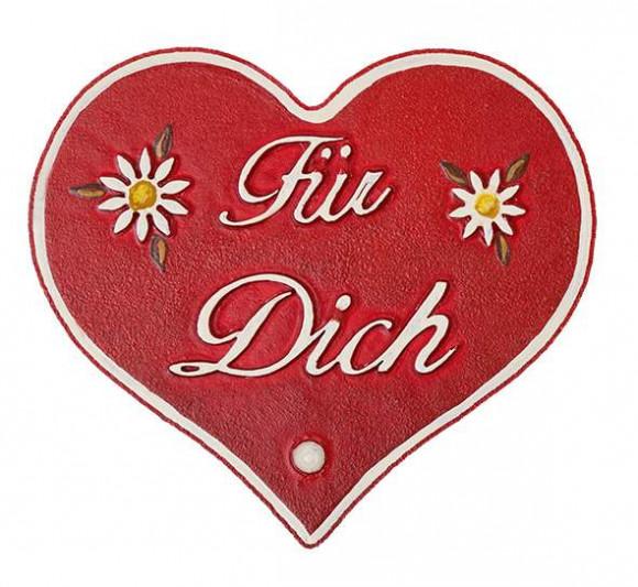 """Magnetpin-Herz """"Für Dich"""""""