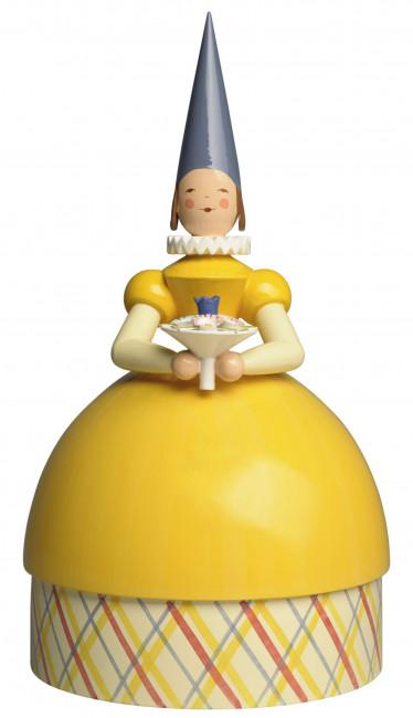 Knauldame Prinzessin, gelbes Kleid