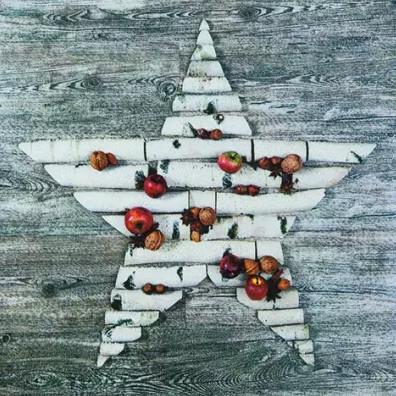 Tischservietten Weihnachtlicher Stern