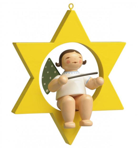 Engel mit Taktstock im Stern
