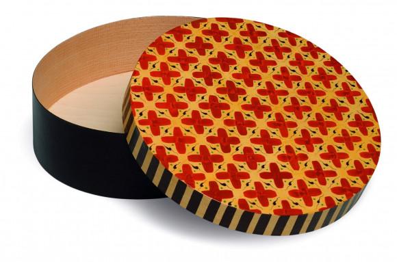 Spandose mit Kreuzmuster rund, Ø 28,6 cm
