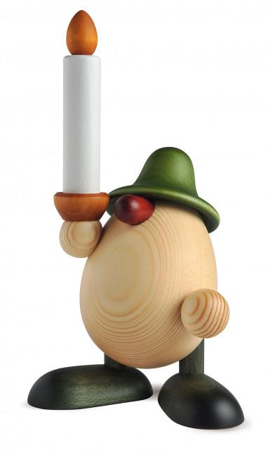 Eierkopf Lichtgestalt Alfred mit Kerze, grün