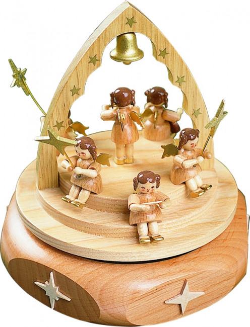 Spieldose Engelkonzert natur Schweizer Spielwerk