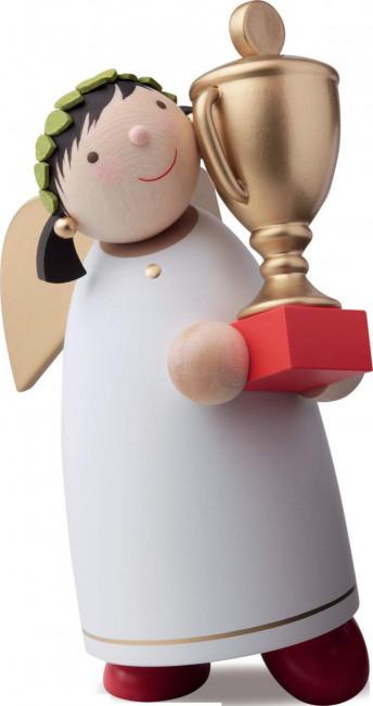 Schutzengel mit Pokal, 8 cm