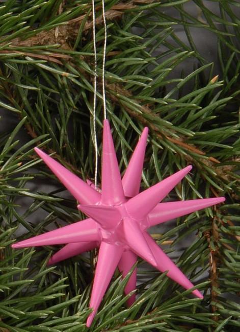 Holzsterne 6-teilig klein - pink