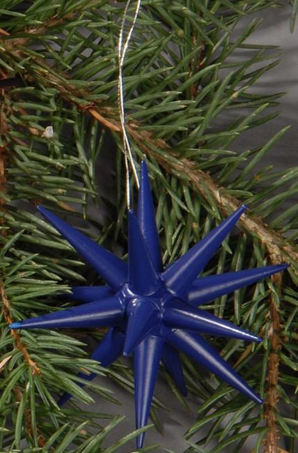 Holzsterne 4-teilig groß - dunkelblau