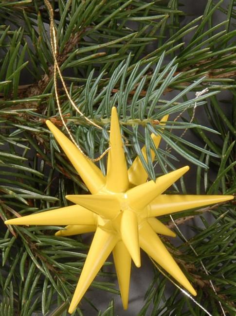 Holzsterne 4-teilig groß - gelb