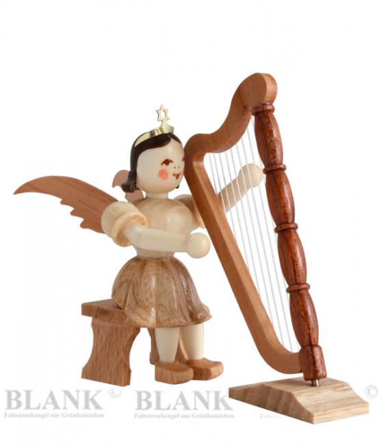 Kurzrockengel mit Harfe sitzend