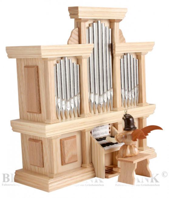 Kurzrockengel an der Orgel mit Spielwerk