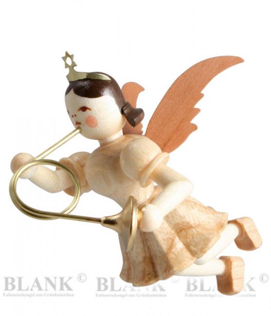 Engel schwebend mit Waldhorn