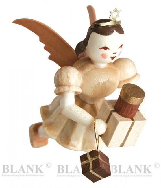 Engel schwebend mit Geschenken
