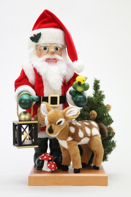 Nussknacker Weihnachstmann mit Bambi