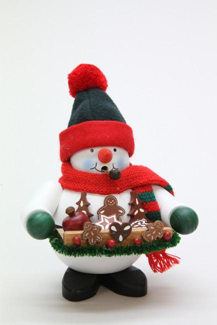 Räuchermännchen Schneemann mit Lebkuchen