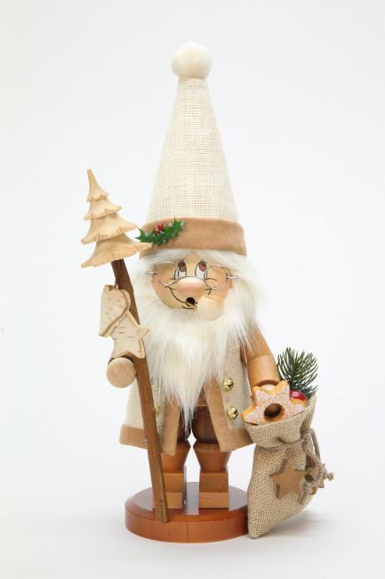 Räuchermännchen Wichtel Weihnachtsmann mit Stab