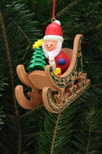 Baumbehang Weihnachtsmann im Schlitten