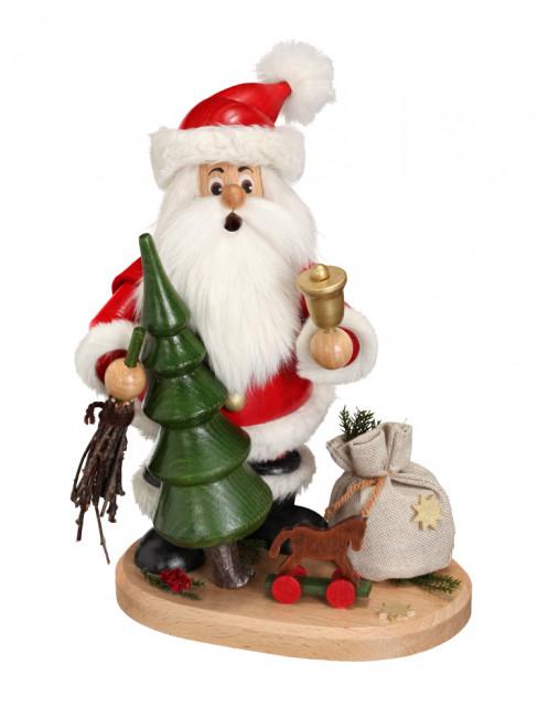Räucherwichtel Weihnachtsmann mit Weihnachtsbaum