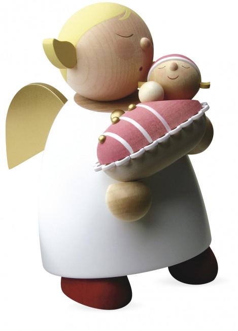 Schutzengel mit Baby - Mädchen, groß