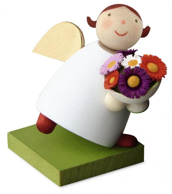 Schutzengel mit Blumenstrauß