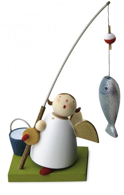 Schutzengel mit Fisch an Angel