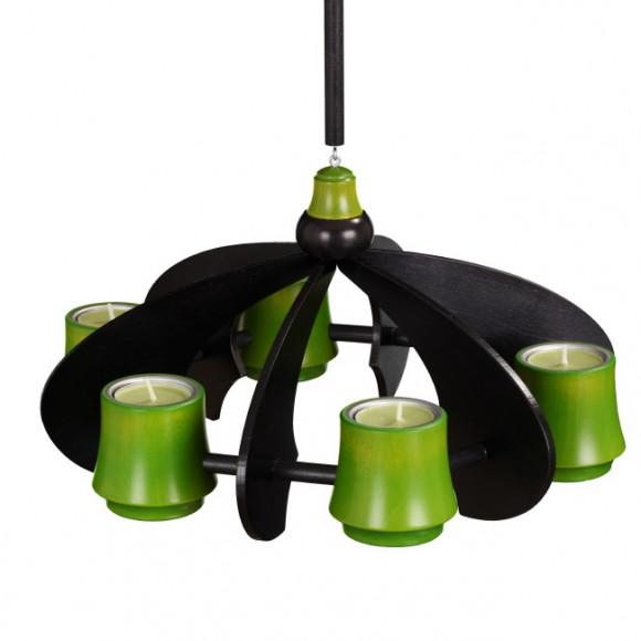 h ngeleuchter oder tischleuchter nova anthrazit lindgr n erzgebirgskunst drechsel. Black Bedroom Furniture Sets. Home Design Ideas