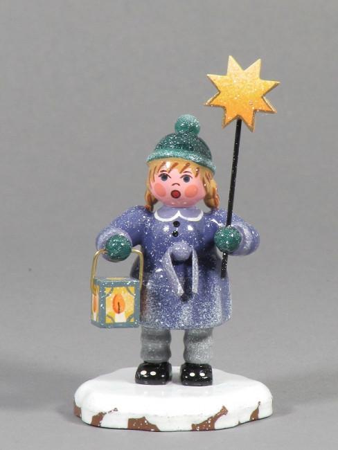 Winterkinder Mädchen mit Stern und Laterne