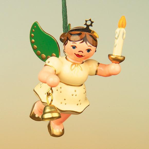 Baumbehang Engel mit Licht und Glocke