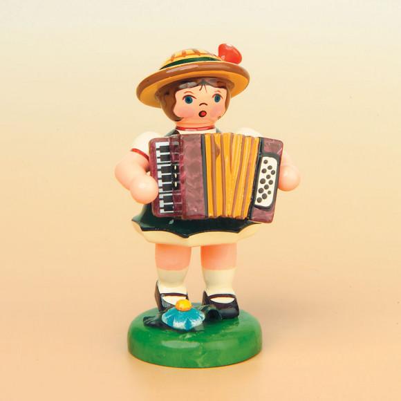 Musikkind Mädchen mit Akkordeon