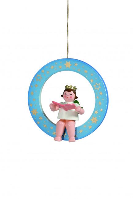 Engel Sänger im blauen Ring