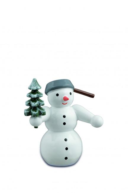 Schneemann mit Baum