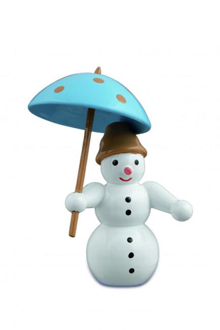 Schneemann mit Schirm