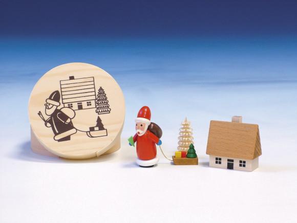 Spanschachtel mit Weihnachtsmann