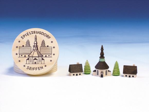 Spanschachtel mit Seiffener Dorf