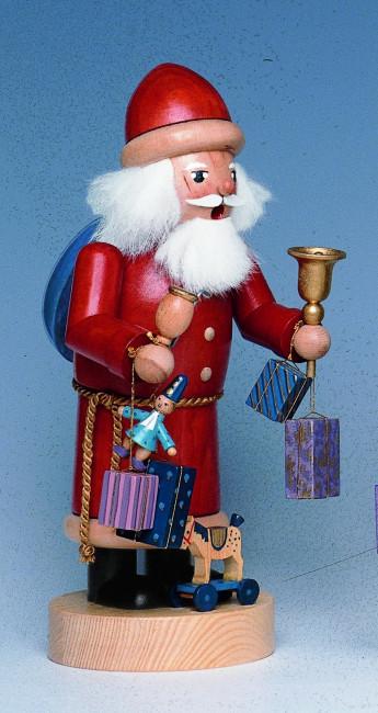 Räuchermännchen Weihnachtsmann mit Schaukelpferd