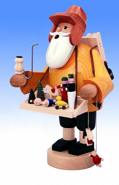 Räuchermännchen Spielzeughändler mit Kiepe groß