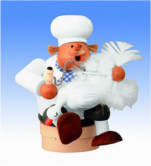 Räuchermännchen Kantenhocker Koch mit Gans